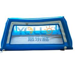 Almofada insuflável tenda lugar seguro dormindo tenda local seguro de solteiro