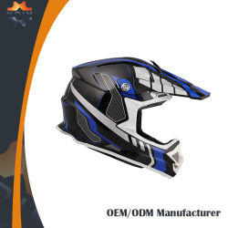 De cara completa del casco de motocicleta Motocross puntos/casco de la CEPE de casco de carreras MX
