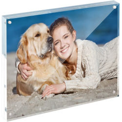 Custom Clear Tabletop Acrylic Picture Frames, Double Sided Magnetic Block Photo Frames(사용자 정의 투명 테이블 상판 아크릴 사진 프레임