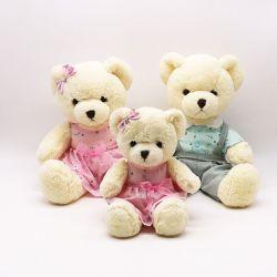 Orso molle su ordinazione dell'orsacchiotto del bambino dell'animale farcito di marchio con il giocattolo della peluche dell'orso di modo delle magliette