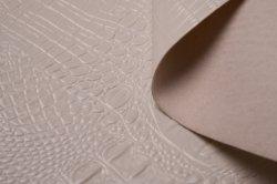 Gemaakt in China nieuwe kleur echt PVC weefsel leer