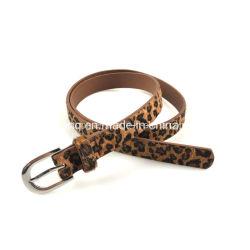 Высокое качество женской моды Leopard Print ремень из натуральной кожи Уважаемые ремни