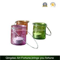 Círio Tealight Lantern com manuseio de metal para decoração