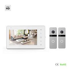 """7 """" IPS de Veiligheid VideoDoorphone van het Huis van de Intercom van het Scherm HD van de Aanraking"""