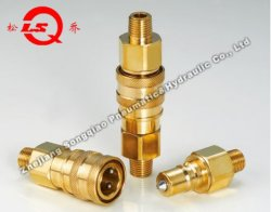 Lsq-S8媒体Pressure High Performance PneumaticおよびHydraulic Quick Coupling (BRASS)