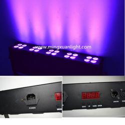 Этап эффект 16ПК 3Вт Светодиодные УФ лампа черного цвета с DMX