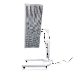 Perto de sauna de infravermelhos usam a terapia da luz vermelha de luz LED Painéis de rotação