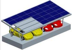 Le parking des structures de fixation de l'énergie solaire en aluminium étanche abri projet PV de montage en rack de montage du système de rayonnage PV Système de stationnement