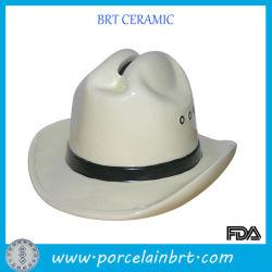 Chapeau de Cowboy de l'homme Tirelire en céramique en forme de nouveau cadeau