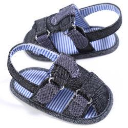 Unisex bebé zapatos verano cerrado Toe Denim chicos infantiles chicas sandalias Zapatos de cuna suave transpirable Esg14175