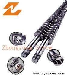 Zhejiang à double vis conique Zhoushan baril pour le tuyau en PVC feuille