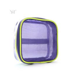 Limpar o logotipo personalizado promocional bolsa em PVC transparente saco cosméticos