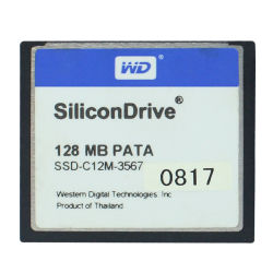 128MB PATAのカリホルニウムCompact Flash Card Silicon Compactflash Memory Card