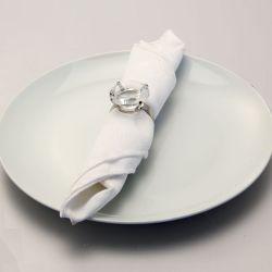 La decoración de bodas anillos de servilleta de cristal