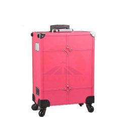 Chariot avec les lumières de cas de maquillage pour les voyages (HB-6501)