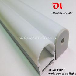 Светодиод анодированного раунда Surfacehanging экструзионный алюминиевый профиль