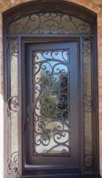 Sicherheits-Stahlsicherheits-Eisen-Metalleinzelne Innentür/Außentür kundenspezifisch anfertigen
