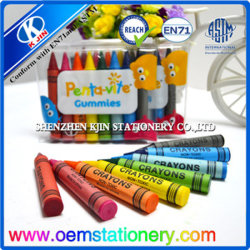 Lápiz de cera en forma de dedo de 8,8 cm / Niños lápices lápiz de cera de los niños /