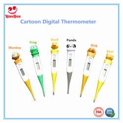 Термометр гибкого конца конструкции шаржа цифровой
