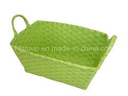 Mayorista de medio ambiente Mango artesanal imprime canastas de paja para el almacenamiento