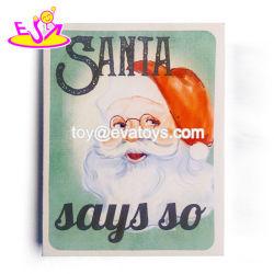 Trabalho manual Santa arte na parede de Natal de madeira para decoração W09d070