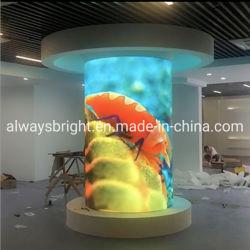 Schermo video LED per pubblicità flessibile in interni in vendita a caldo