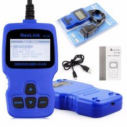 Nuovo analizzatore del motore di Eobd Jobd del lettore di codice difetto di Nexlink Nl100 dello scanner dell'automobile OBD2 con la prova del sensore O2 migliore di Elm327 V1.5 Ad310