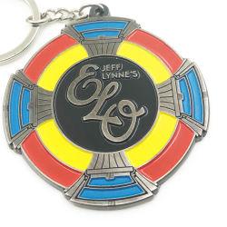 La conception de forme ronde colorée personnalisé votre logo de l'émail doux nom de chaîne de clés