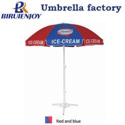 200cm*8K de qualité Fort Rouge Bleu Portable parasol de plage publicitaire avec logo