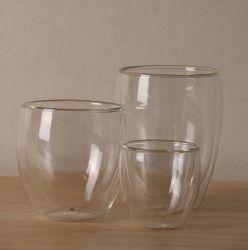 飲料またはコーヒーのためのカスタマイズされたデザインガラスコップそしてマグ