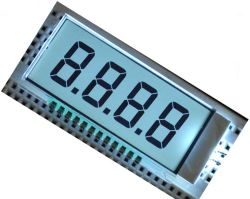 단색 7 세그먼트 LCD 디스플레이 3-선 직렬 TN 양극