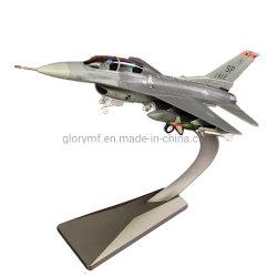 Modelo de avión de la pantalla de plástico personalizada juguetes con una base metálica