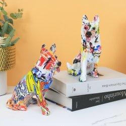 2022 أفضل بيع تصميم داخلي حرفة النحت الكلب لطيف ديكور للديكور المنزلى