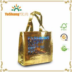 2016 China Oro Laminado metálico de alta calidad de la bolsa de tejido