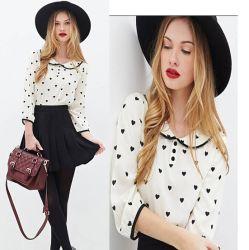 Vendita All'Ingrosso Nuovo Abbigliamento Di Moda Long Sleeve Ladies Chiffon Blouse