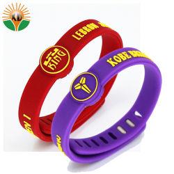 Дешевые Custom красочные силиконовый браслет с логотипом