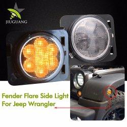 Commerce de gros de l'aile IP67 Flare LED clignotant 24V FEU DE BROUILLARD pour Jeep Wrangler