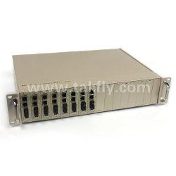 Montagem em rack de 16 10/100/1000m centralizado Gigabit Conversor de mídia