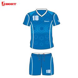 Aibort nuevo diseño de color azul cielo hogar lejos de sublimación uniforme de Fútbol (ZYH07A)