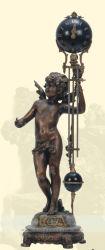机の装飾機械骨董品の青銅のクロック