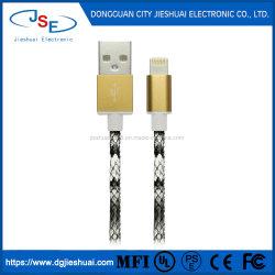 Mfi foudre Câble de chargement de données USB Chargeur pour Apple iPhone 6S 5 8 7 le cuir