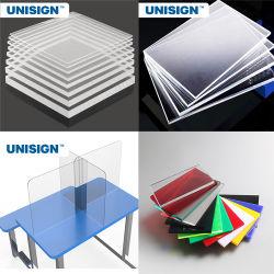 На заводе Unisign пользовательская резка акрил прозрачной защитной клиентов поверхность стола щиток акриловые экраны гипс платы раздел ЦЕНЫ
