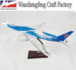 모형 편평한 보잉 B787-8 가늠자 비행기 모형
