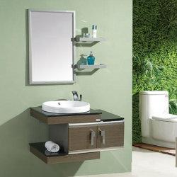 Governo di stanza da bagno classico della mobilia della stanza da bagno di vanità del metallo dell'oro