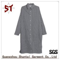 도매 형식 줄무늬 폴로 고리 긴 셔츠 복장