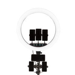 Luz com tripé poltrona reclinável um bocado com ajustável para Photo Shoot 8 polegadas luz anel Video