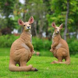 Custom статуи из стекловолокна смола статуи животных Сад скульптуры кенгуру