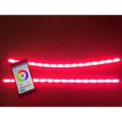 Новый глава 12V 7 цветов RGB LED приложения телефона гибкие DRL Crystal системы освещения дневного движения