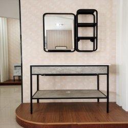 Acero inoxidable 2020 gabinete de vanidades de baño de lujo moderno Juego de cuarto de baño
