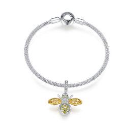 Sterling Silver 925 Sieraden Queen Bee hanger doe-het-zelf charme armbanden